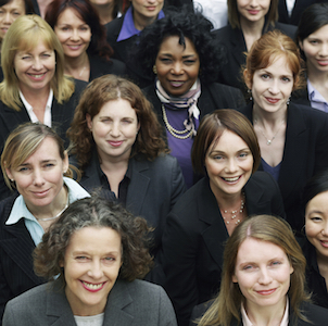 Group of female social investors