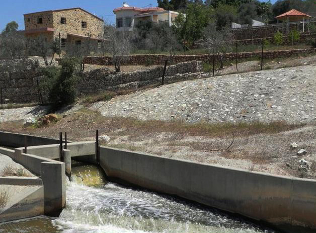 An irrigation canal in Jordan, where groundwater levels are falling a meter each year. (Photo courtesy Global Freshwater Initiative)