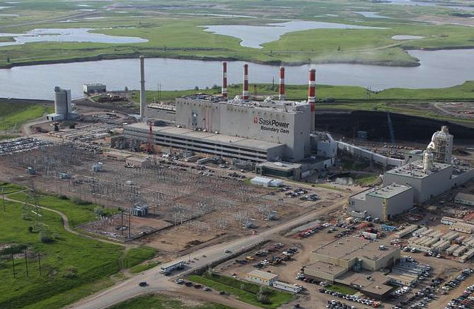 SaskPower's Boundary Dam Power Station near Estevan, Saskatchewan