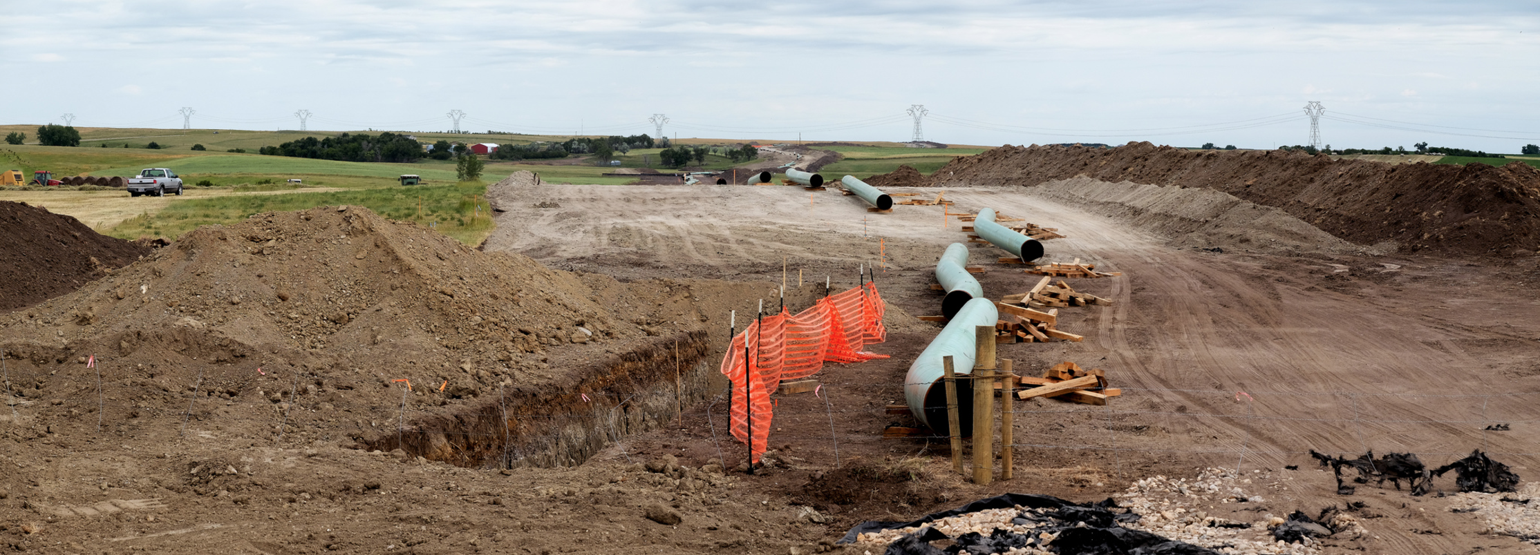 The Dakota Access Pipeline under construction