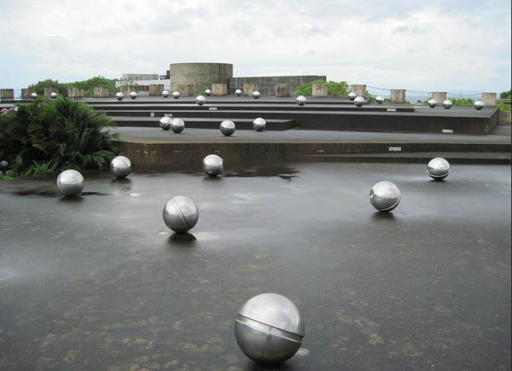 Stainless steel balls at the Minamata Memorial Museau commemmorate the mercury exposure that killed thousands. (Photo by quirkyjazz)