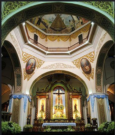 The altar at the Naga Metropolitan Cathedral, September 2009. (Photo by Jay-Ar Cruz) Creative Commons license via Flickr.