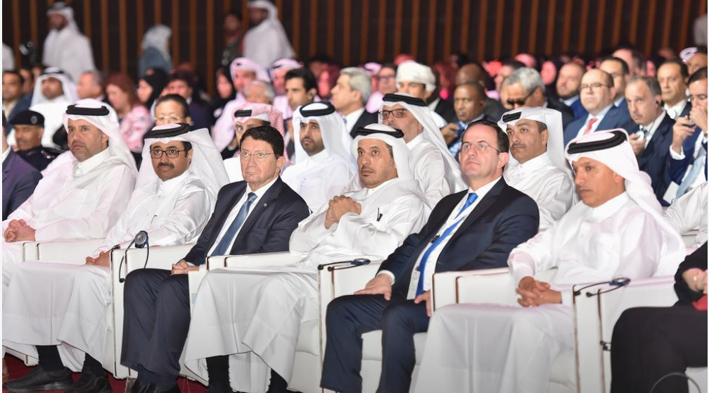 World Tourism Organization Secretary-General Taleb Rifai (third from left) at the opening session of World Tourism Day in Doha, Qatar, September 27, 2017 (Photo courtesy World Tourism Organization) Posted for media use
