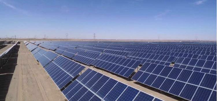Solar panels at the 3rd project in Aswan province under the European Bank for Reconstruction and Development's Egypt Renewable Energy Framework (Photo courtesy EBRD) Posted for media use