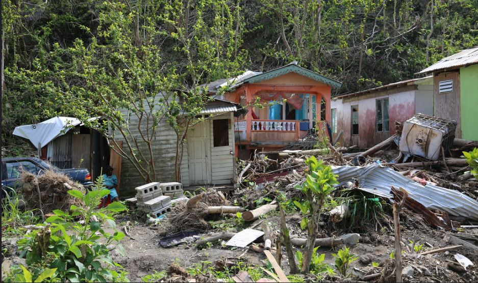 Devastation on the Caribbean island of Dominica after Hurricane Maria, November 19, 2017 (Photo by Tanya Holden/DFID) Creative Commons license via Flickr