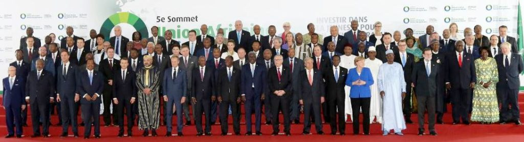 The 83 Heads of State and Government who participated in the 5th African Union - European Union Summit in Abidjan, Côte d'Ivoire, November 30, 2017 (Photo courtesy African Union) Posted for media use