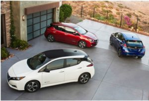 Nissan's award-winning 2018 electric LEAF in Las Vegas, Nevada (Photo courtesy Nissan) Posted for media use