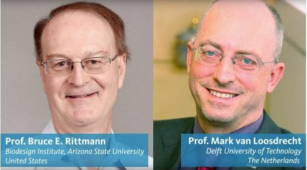 Dr. Bruce Rittmann and Dr. Mark van Loosdrecht have been awarded the 2018 Stockholm Water Prize for revolutionizing water and wastewater treatment. March 22, 2018 (Photo courtesy Swette Center of Environmental Biotechnology at Arizona State University) Posted for media use