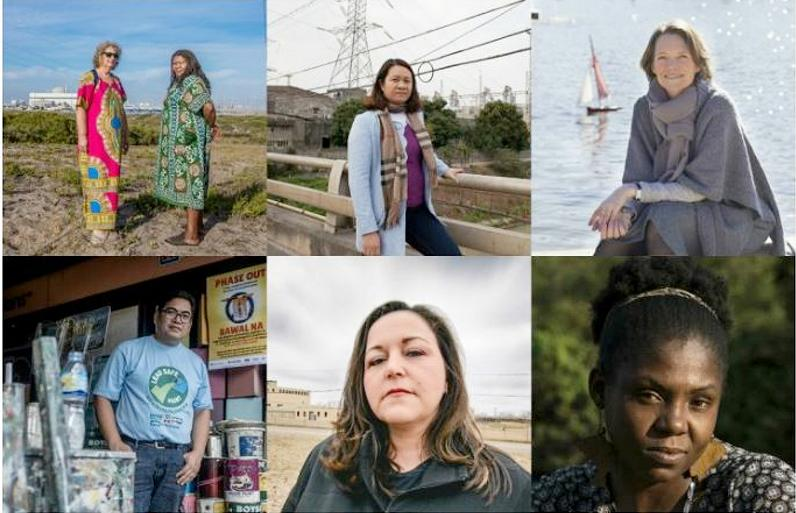 2018 Goldman Environmental Prize Winners: top row, from left, AFRICA: Makoma Lekalakala and Liziwe McDaid, South Africa; ASIA: Khanh Nguy Thi, Vietnam; EUROPE: Claire Nouvian, France; bottom row, from left, ISLANDS: Manny Calonzo, The Philippines; NORTH AMERICA: LeeAnne Walters, United States; SOUTH AMERICA: Francia Márquez, Colombia. (Photo courtesy Goldman Environmental Foundation) Posted for media use