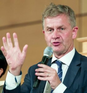 Head of UN Environment Erik Solheim of Norway, September 28, 2017 (Photo courteswy UN Geneva)