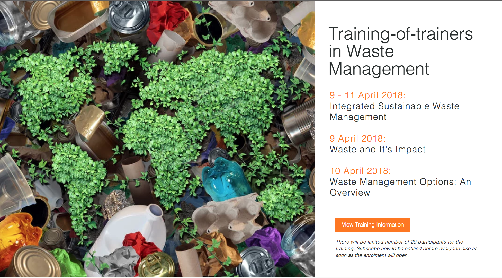 Training-of-trainers in Waste Management