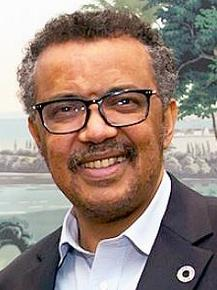 WHO Director-General Dr. Tedros Adhanom Ghebreyesus, took office in July 2017. (Photo courtesy Wikipedia)