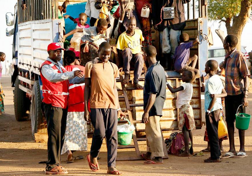 Refugees arrive from South Sudan at Uganda's Bidibidi settlement camp. September 7, 2016 (Photo by International Federation of Red Cross and Red Crescent) Creative Commons license via Flickr