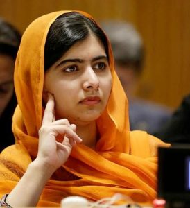 Malala Yousafzai during the 72nd United Nations General Assembly in New York on the day that the European Union and the United Nations launched a Spotlight Initiative to eliminate all forms of violence against women and girls. September 20, 2017 (Photo by Ryan Brown / UN Women) Creative Commons license via Flickr