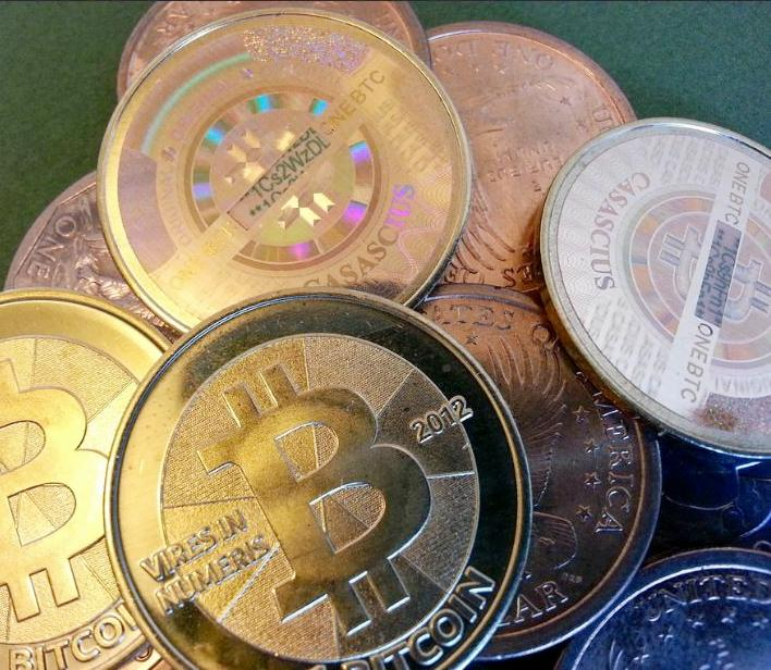 Bitcoins and other cryptocurrencies, January 1, 2013 (Photo by Zack Copley) Creative Commons license via Flickr