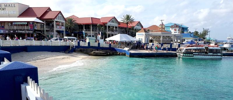 George Town, the capital of the Cayman Islands, is known as a financial hub and a port of call for cruise ships. Dec. 7, 2017 (Photo by Jorge Brazilian) Creative Commons license via Flickr