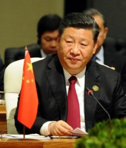 China's President Xi Jinping at the 10th BRICS Summit at the Sandton Convention Centre, South Africa. BRICS is an association of five major emerging national economies: Brazil, Russia, India, China and South Africa. July 26, 2018 (Photo courtesy Government of South Africa)