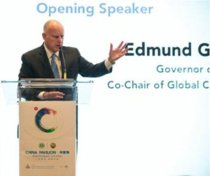 California Governor Jerry Brown welcomes China to the Global Climate Action Summit, September 12, 2018, San Francisco, California (Photo courtesy Office of the Governor) Public Domain