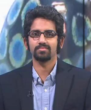 Yale-NUS College Assistant Professor of Life Science Dr. Vinodkumar Saranathan led the rainbow weevil study. September 2018 (Screengrab from video Yale-NUS)