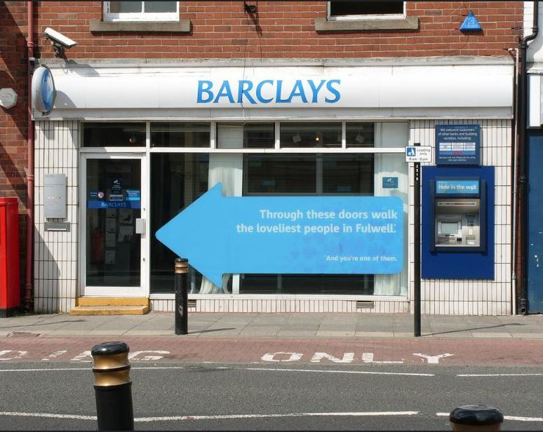 Barclays Bank Fulwell Branch, Seaburn, Sunderland, England, August 4, 2009, Photo by Peter Richmond)