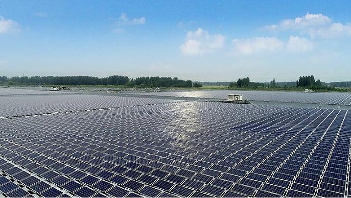 100 MW Floating PV Power Plant Project in Huancheng Town, Weishan County, Jining City, Shandong Province (Photo courtesy Sungrow Power) Posted for media use