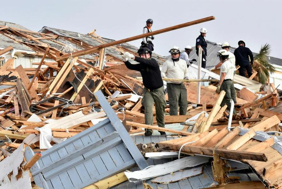 Hurricane Michael storm response from the Florida Fish and Wildlife Conservation Commission's Division of Law Enforcement. With winds of 155 mph, Hurricane Michael was one of the most intense Atlantic hurricanes to make landfall in U.S. history, 43 people lost their lives, October 17, 2018. (Photo by Florida Fish and Wildlife) Public domain.