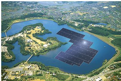 Artist's impression of Kyocera's Yamakura dam power plant in Japan. (Photo courtesy Kyocera Corp.) Posted for media use