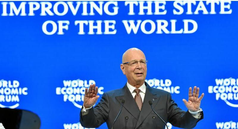 "Professor Klaus Schwab, founder and executive chairman, World Economic Forum, explains the main theme of the 2019 World Economic Forum in Davos will be ""Globalization 4.0: Designing a New World Architecture at the Age of the Fourth Industrial Revolution"" (Photo by Michael Buholzer courtesy World Economic Forum) Posted for media use."