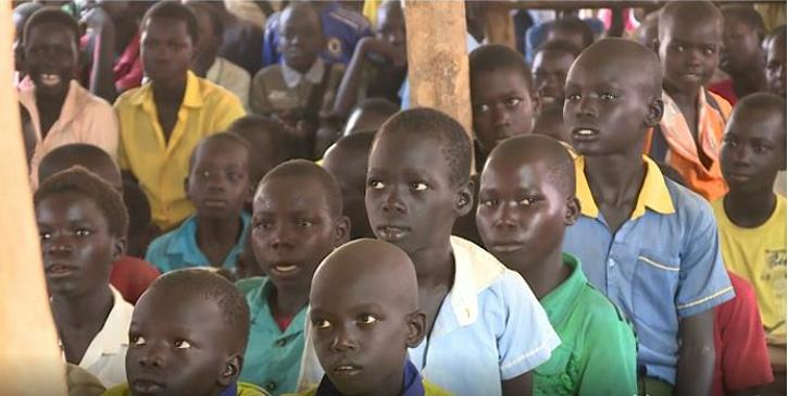 Boys displaced from South Sudan. More than 2.5 million South Sudanese refugees are currently struggling to survive in exile, the largest refugee situation on the African continent. By the end of 2019, the UN estimates more than 2.8 million people will have fled South Sudan. May 8, 2018 (Screengrab from video by UN High Commissioner for Refugees) Posted for media use.