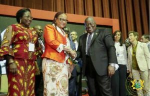 Ghana's President Nana Akufo-Addo with delegates at Africa Climate Week, March 18, 2019 (Photo courtesy Government of Ghana) Public domain