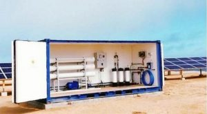 Namibia's first solar-powered water desalination system, 2019 (Photo courtesy Solar Water Solutions) Posted for media use via Facebook