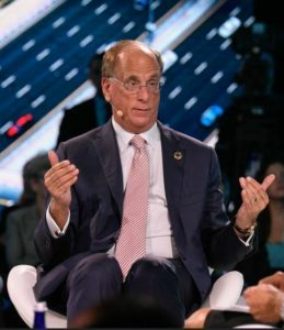 Chairman and Chief Executive of Blackrock Larry Fink at the One Planet Summit 2018. (Photo by Mike Bloomberg) Creative Commons license via Flickr