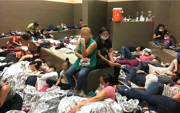 Overcrowding observed by DHS Inspector General June 11, 2019, detention center Weslaco, Texas (Photo courtesy OIC) public domain.