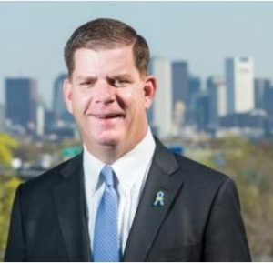 Mayor Marty Walsh of Boston, the ACEEE's top-ranked energy efficient city, has invited the people of Boston to help him draw a blueprint for the city's future in Imagine Boston 2030, the first citywide plan in half a century. September 2015 (Photo courtesy Stonehill College) Posted for media use.