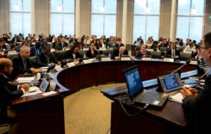 Capacity-building presentation at 21st Annual Meeting of National Authorities that are parties to The Organisation for the Prohibition of Chemical Weapons, an intergovernmental organisation that is the implementing body for the Chemical Weapons Convention. November 6, 2019, The Hague, The Netherlands (Photo courtesy OPCW) Creative commons license via Flickr