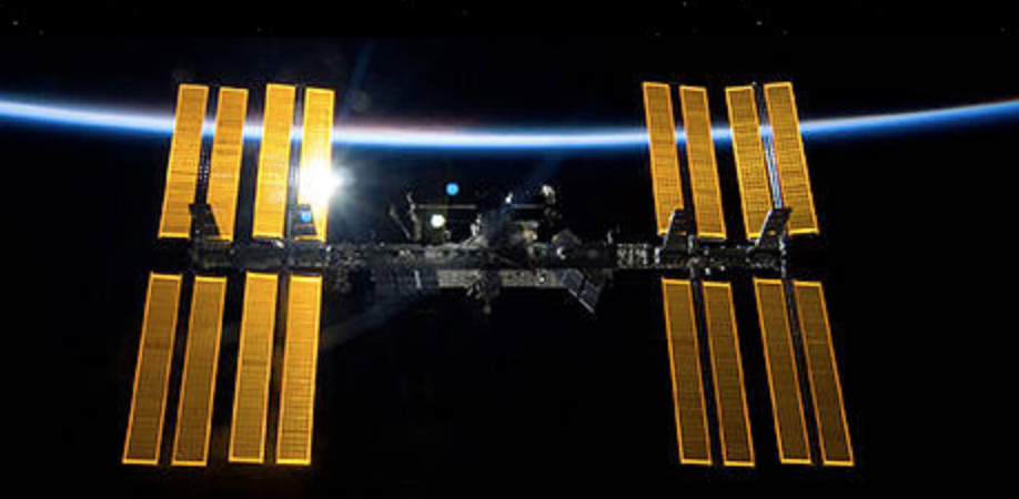 Solar array wing on the International Space Station (Photo courtesy NASA) Public domain