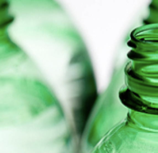 Bioplastic bottles can be transformed into the environmentally-friendly solvent methyl lactate. (Photo courtesy The Dieline) Posted for media use