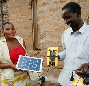 Mecktilda and Stefano became local agents for Global Cycle Solutions, a solar energy provider, in their village near Mwanza, Tanzania.  A year later, they had sold over 200 solar kits and earned enough to cover their children's school fees. August 25, 2015 Tanzania (Photo by Russell Watkins courtesy UK Department for International Development) Creative Commons license via Flickr