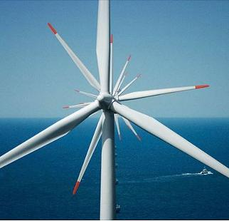 Anholt Offshore Wind Farm, a Danish offshore wind farm in the Kattegat, between Djursland and Anholt island began operating in 2013. With a capacity of 400 megawatts, it is one of the largest offshore wind farms in the world and was the largest in Denmark from 2013 to 2019. (Photo by Old Dane) August 15, 2013 Creative Commons license via Wikipedia