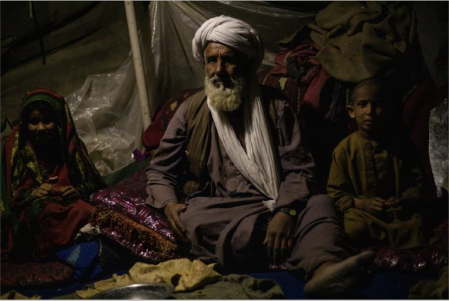 Abdul Baqi, 67, and his family are among those Afghans already displaced by drought. Photo by Enayatullah Azad courtesy Norwegian Refugee Council) Posted for media use
