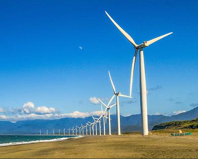 The Northwind Bangui Bay Project is located at the municipality of Bangui, Ilocos Norte, Philippines at the northwest tip of Luzon island where the wind blows toward land. December 15, 2018 (Photo by Wayne S. Grazio) Creative commons license via Flickr