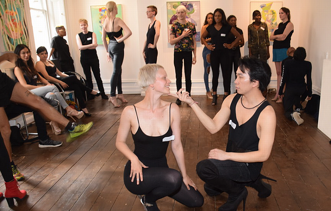 High-stress auditions for the Positive Runway Global Catwalk to Stop the Spread of HIV/AIDS, London, UK, June 21, 2019 (Photo by photographer695) Creative Commons license via Flickr